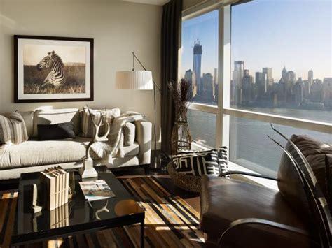 safari inspired living room  spectacular city view hgtv