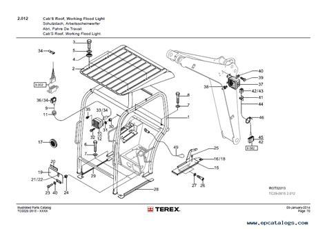 terex tc  mini excavator  illustrated parts catalog