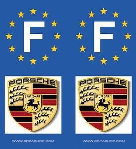 Immatriculation Europe : 2 stickers cars f europe porsche sdpa scapr plaques d 39 immatriculation et stickers autocollant ~ Gottalentnigeria.com Avis de Voitures