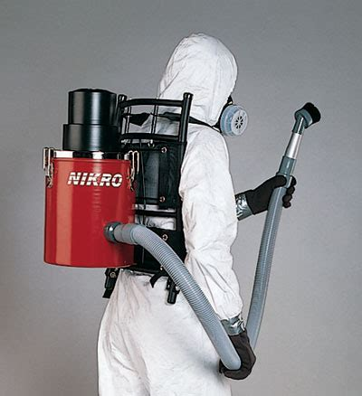 nikro backpack hepa vacuum cleaners  dust asbestos