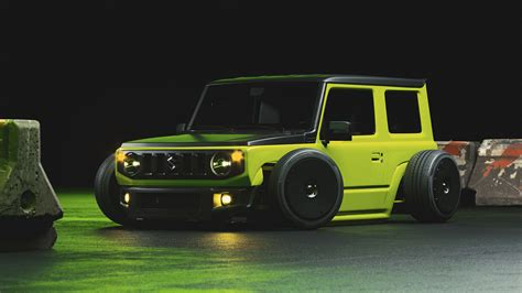 There are places in the world only the jimny can go. Slammed Suzuki Jimny Rendering Looks too Glamorous to Be a ...