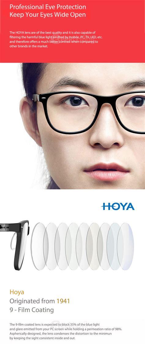 Computer Glasses Blue Light by Roidmi B1 Hoya Anti Bluray Goggles Black