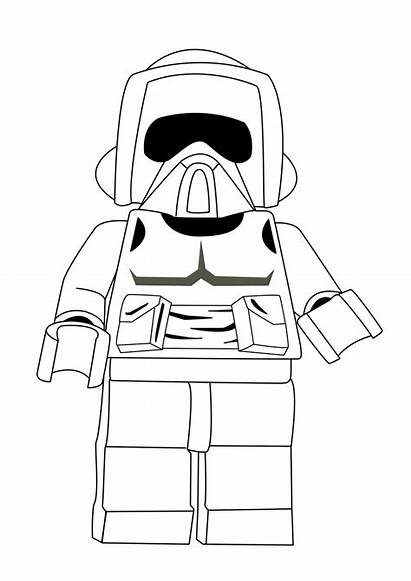 Lego Coloring Wars Star Pages Printable