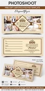 photoshoot free gift certificate psd template by With photoshoot gift certificate template