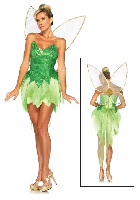 karneval kostüm tinkerbell tinkerbell kost 252 m fee frauen fl 252 gel gr 252 nes kleid disney in 2019 tinker bell kost 252 m
