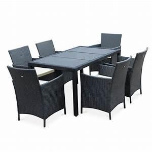 Table De Jardin Grise : table jardin r sine tress e ~ Dailycaller-alerts.com Idées de Décoration