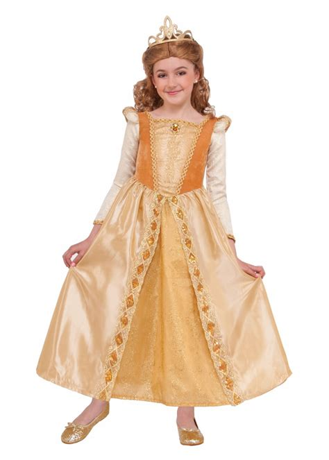 gold princess girls costume historical costumes