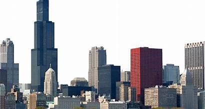 Transparent Chicago Skyline Broken Title