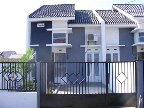 contoh desain pagar rumah minimalis type  eksterior