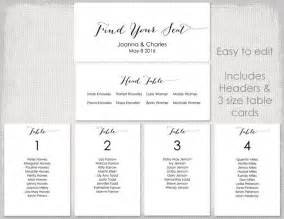 Wedding Table List Template by Wedding Seating Chart Template Black Quot Bombshell Quot Diy