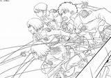 Anime Titan Attack Coloring Levi Lineart Deviantart Eren Shingeki Kyojin Titans Colouring Manga Sheets Fighting Drawing Squad Corps Survey Coloringonly sketch template