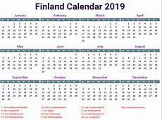 Kalenteri 2019 tulostettava 3 – Download 2019 Calendar