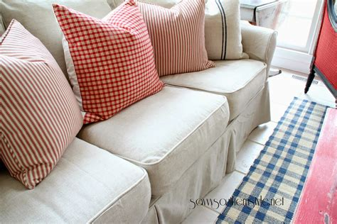 How To Make A Loveseat Slipcover by Custom Slipcovers And Cover For Any Sofa