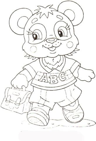 baby panda  school coloring page supercoloringcom