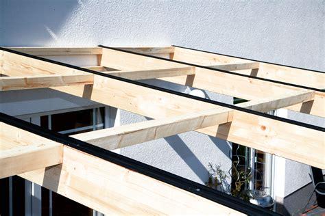 Der Dachstuhl Selbst Anlegen by Aufbau Einer Leimholz Terrassen 252 Berdachung
