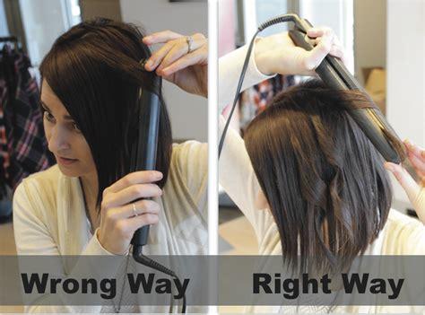 hair straightener  curly hair