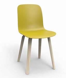 chaise cuisine couleur gamme areal cuir synthtique au With deco cuisine avec chaise couleur pied bois