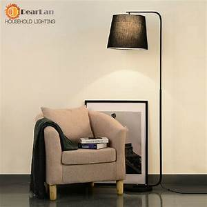 modern brief fork fabric floor lamp modern brief bedroom With living room floor lamp india