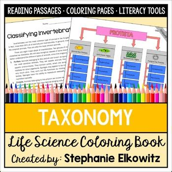 taxonomy  classification coloring  science literacy