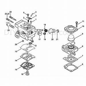 Stihl Fs 360 Clearing Saw  Fs360c  Parts Diagram  Carbureter Wtf