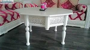 Salon Marocain Blanc : vend salon marocain blanc et argent complet ~ Nature-et-papiers.com Idées de Décoration
