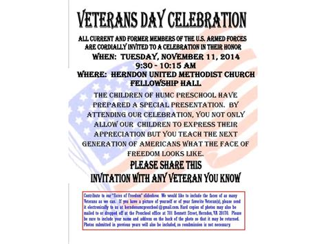 veterans day program veterans day program all veterans invited to attend herndon va patch