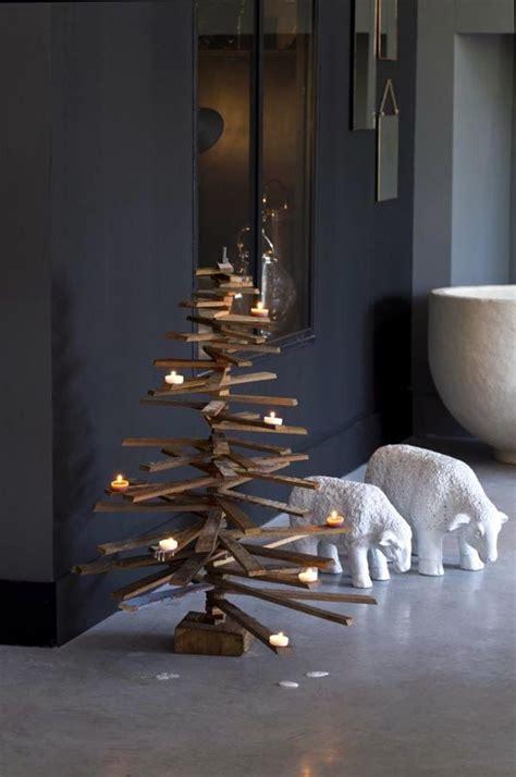 arboles de navidad de listones  ramas salvaged wood