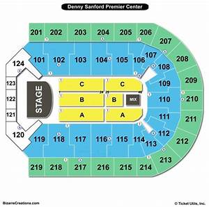 Carrie Underwood Seating Chart Denny Sanford Premier Center Seating Chart Seating
