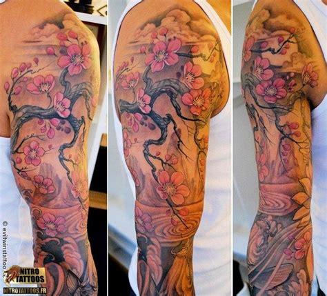 tatouage fleurs de cerisier tatoo pinterest tatouage