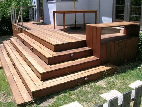 simple landscape landscaping  deck stairs
