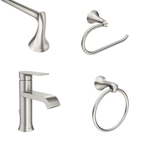 Single Handle Bathroom Faucets by Moen Genta Single Single Handle Bathroom Faucet With