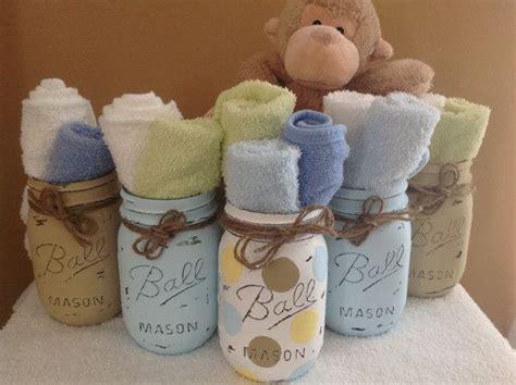 set   hand painted  distressed mason jars baby baby shower home decor jars pandora