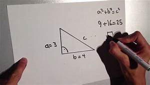 Satz Des Pythagoras A Berechnen : satz des pythagoras erkl ren mathe aufgaben erkl rt youtube ~ Themetempest.com Abrechnung
