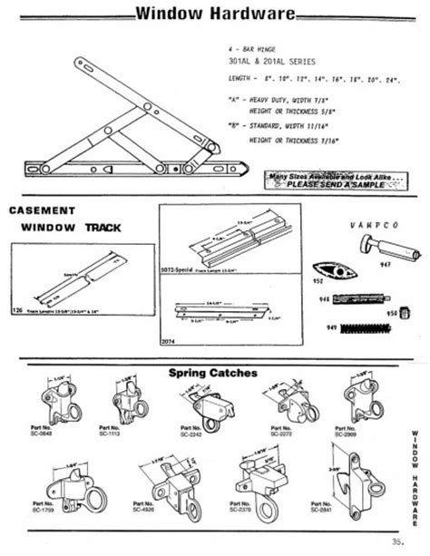 bar hinge casement window track spring catches wielhouwer replacement hardware specialists