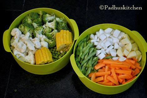 steamed vegetable salad recipe   steam vegetables