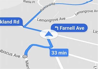 Google Maps Navigation Arrow Vehicle Icons Interface