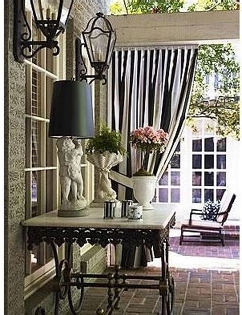 black and white stripe curtains remodel patio portch
