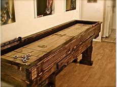 Rustic Olde World Shuffleboard Table with by