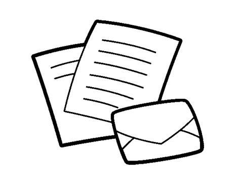 Dibujo de Cartas y sobre para Colorear Dibujos net