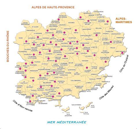 Carte Du Var Avec Toutes Les Villes by Info Carte Var Voyages Cartes