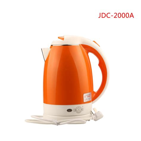 kettle water heating heat electric cordless 2l 2000a jdc stainless quick steel