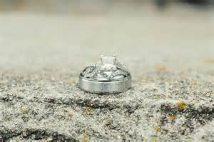 rustic wedding rings rustic wedding real wedding photos engagement ring wedding bands onewed