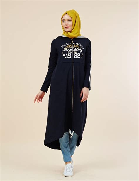 KAYRA ONLINE | B5 25158 SPORT TRENCHCOAT NAVY | inspirational hijab outfit | Pinterest | Navy ...