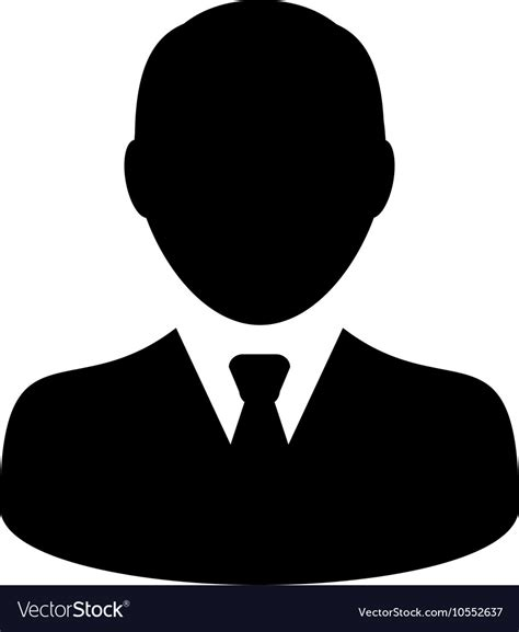 user icon businessman profile human avatar vector