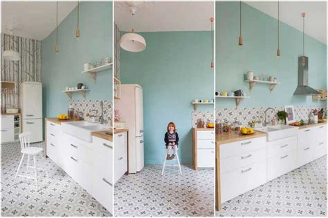 deco retro cuisine des carreaux de ciment pour décorer votre intérieur