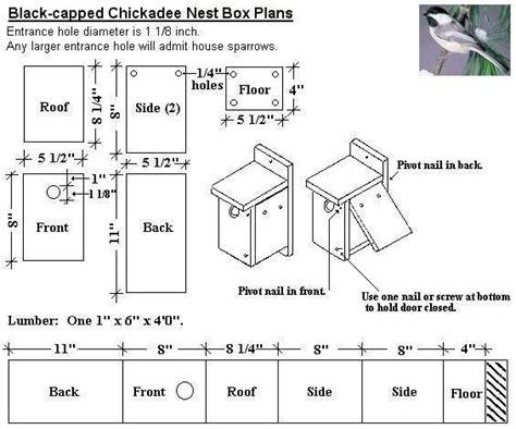 black capped chickadee bird house plans diy  wild birds pinterest good ideas house