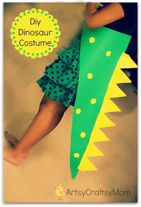 easiest diy  sew dinosaur costume  kids artsy