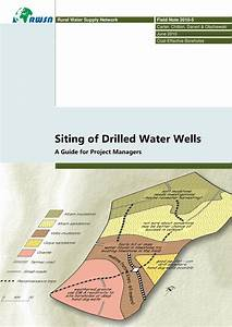 Pdf  Siting Of Drilled Water Wells  A Guide For Project