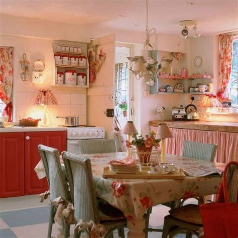 vintage country kitchen decor colorful cottage style colorful doors 6791