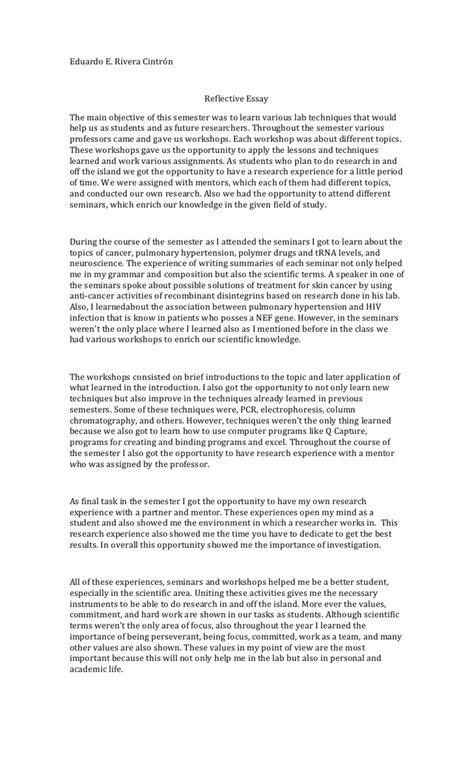 reflective essay template  essay writing top